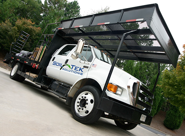 Soil-Tek erosion control truck